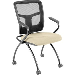 Lorell Mesh Back Nesting Chair with Armrests (Carton of 1)