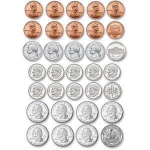 Ashley US Coin Money Set Die-cut Magnets (Set of  )