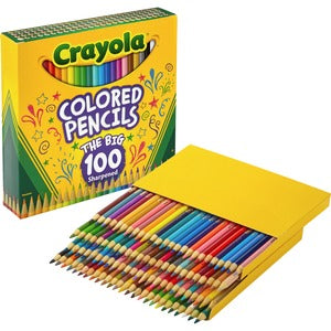 Crayola Colored Pencils 100 count. unique colors pre-sharpened (Set of 1)
