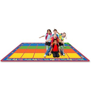 Flagship Carpets Primary Colors Square Grids Rug