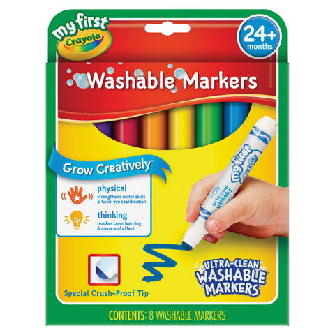 Crayola My First Ultra-Clean Washable Markers Set (Carton of 24 Set)