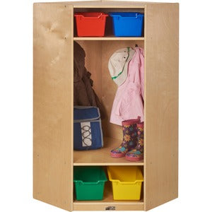 ECR4KIDS Corner Straight Coat Locker