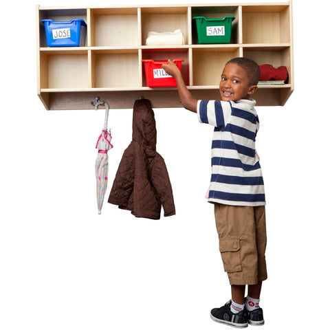 ECR4KIDS Birch 10 Section Coat Locker