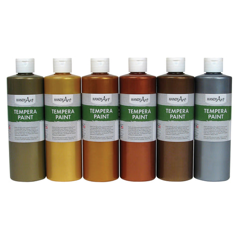 Handy Art Metallic Tempera Paint (Set of 6 Bottles)