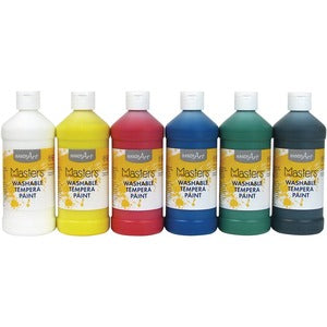 Handy Art Masters Washable Tempera Paint (Set of 6 Bottles)