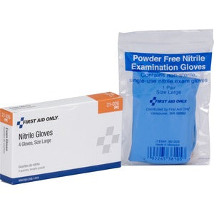 First Aid Only Nitrile Examination Gloves