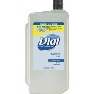 Dial Sensitive Skin Antibactrl Liquid Hand Soap (Carton of 8)