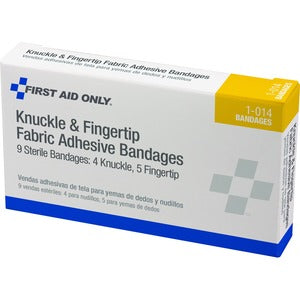 First Aid Only Knuckle/Finger Fabric Adhes Bandages (Box of 9)