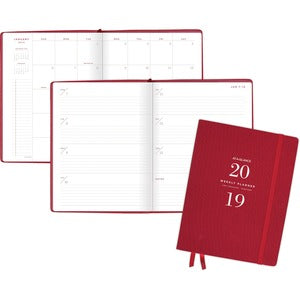 At-A-Glance Signature Collection Weekly/Monthly Planner, Red