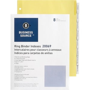 Business Source Buff Stock Ring Binder Indexes (Box of 5 Set)