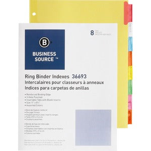 Business Source Insertable Tab Ring Binder Indexes (Box of 5 Set)