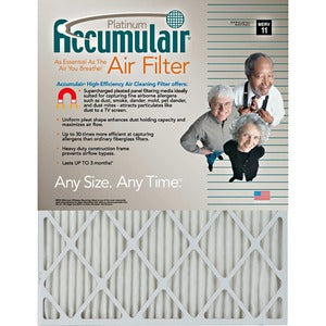 Accumulair Platinum Air Filter (Carton of 4)
