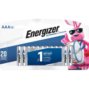 Energizer Ultimate Lithium AAA Batteries (Pack of 12)