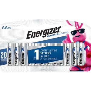 Energizer Ultimate Lithium AA Batteries (Pack of 12)