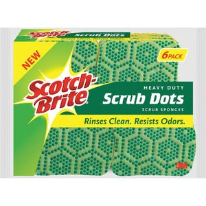 Scotch-Brite Scrub Dots Heavy-duty Scrub Sponge (Pack of  )