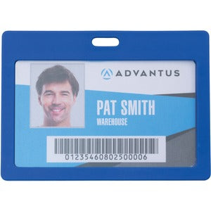 Advantus Horizontal Rigid ID Badge Holder (Pack of 6)