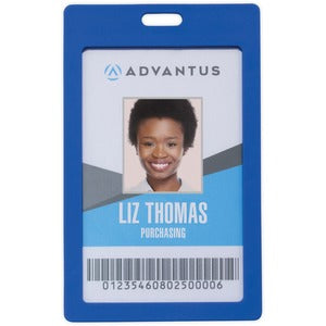 Advantus Vertical Rigid ID Badge Holder (Pack of 6)
