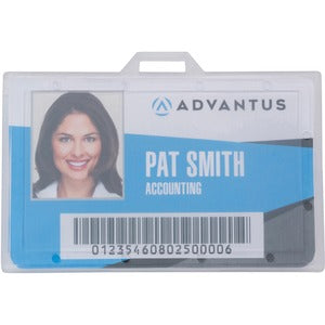 Advantus Clear ID Card Holders (Pack of 25)