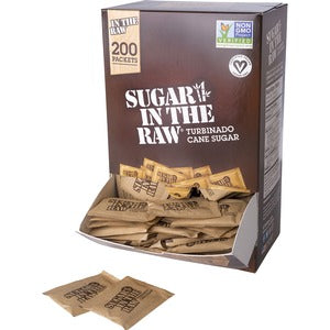 Folgers Sugar In The Raw Natural Cane Sugar (Carton of 2 Boxes - Each 2)