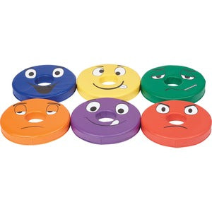 ECR4KIDS Trilingual Donut Cushions (Set of 6)