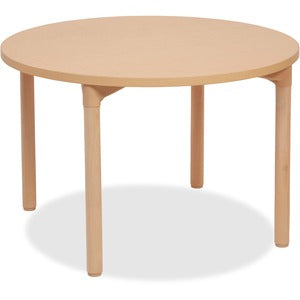 "ECR4KIDS 24"" Leg Round Wood Table"