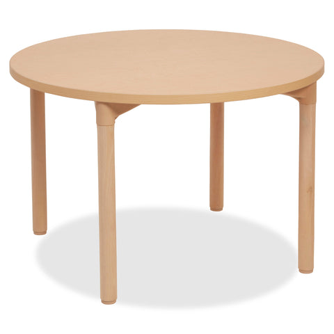 "Early Childhood Resources 26"" Leg Round Wood Table"