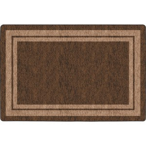 Flagship Carpets Double Light Tone Border Brown Rug
