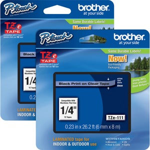 Brother P-touch TZe Laminated Tape Cartridges (DEFAULT)