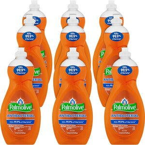 Palmolive Ultra Antibacterial Dish Liquid - Concentrate Liquid - 0.16 gal (20 fl oz) - 9 / Carton - Orange (Carton of 9)