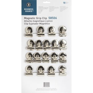 Business Source Magnetic Grip Clips Pack (Box of 18)