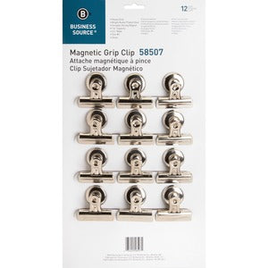 Business Source Magnetic Grip Clips Pack (Box of 12)