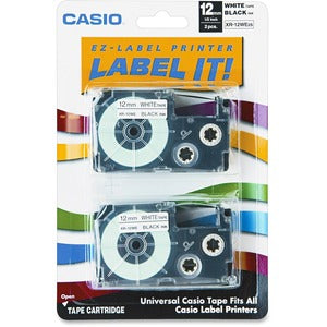 Casio EZ-Label Printer Tape Cartridges (Pack of 2)