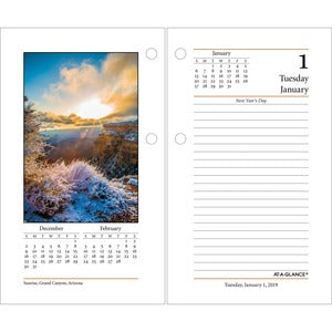 At-A-Glance Photographic Desk Calendar Refill