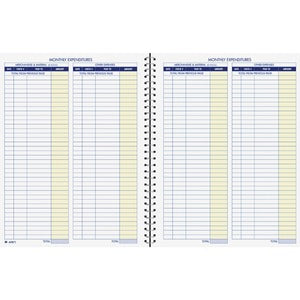 Adams Monthly Bookkeeping Record Book