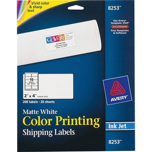Avery&reg Vibrant Color Printing Shipping Labels (Pack of 2)