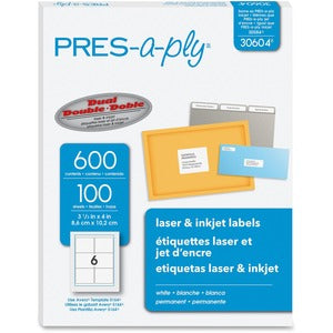 PRES-a-ply Labels for Laser and Inkjet Printers (Box of 600)