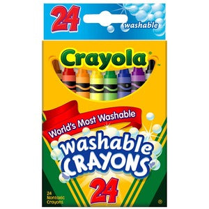 Crayola Washable Crayons (Box of 24)