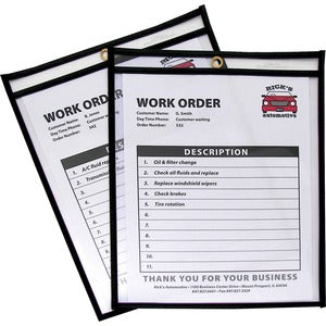 C-Line Stitched Plastic Shop Ticket Holder (Box of 25)