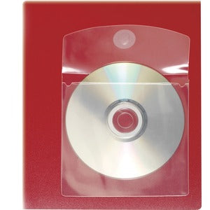 Cardinal HOLDit! Self-Adhesive CD/DVD Disk Pockets (Pack of 1 Bag)