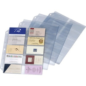 Cardinal Ring Binder Business Card Refill Sheets (Pack of 1 Sheet)