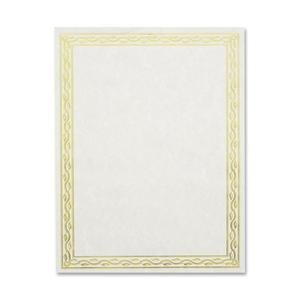 Geographics Premium Gold Foil Border Certificates (Pack of 12)