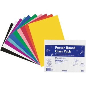 Pacon Poster Board Class Pack (Pack of 50)
