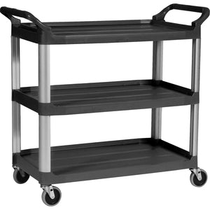Rubbermaid Commercial 3-Shelf Mobile Utility Cart