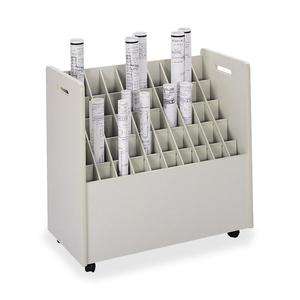 Safco 50-Compartment Mobile Roll Files