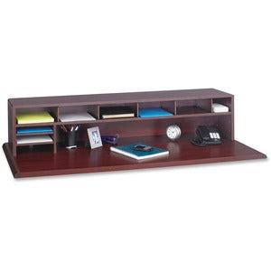 Safco Low-Profile Wood Desktop Organizer