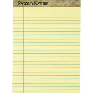 TOPS Second Nature Ruled Canary Writing Pads (Pack of 12)