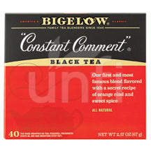 Bigelow Tea Black Tea - Constant Comment - Case of 6 - 40 BAG