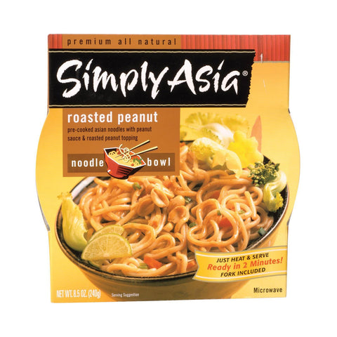 Simply Asia Roasted Peanut Noodle Bowl - Case of 6 - 8.5 oz.