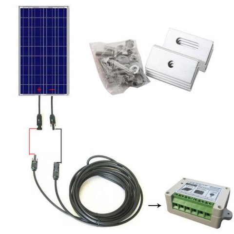 100 Watt Solar Panel Complete Kit
