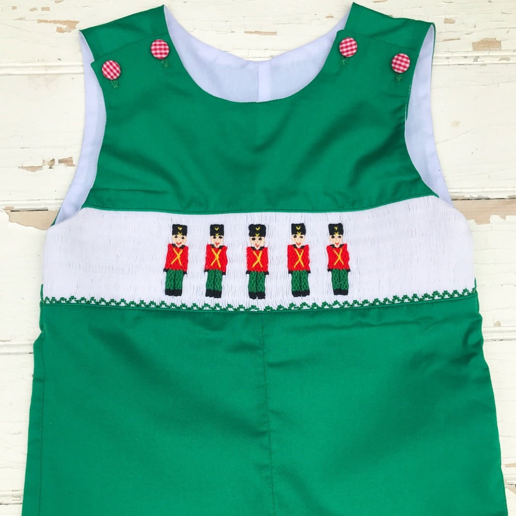 Smocked Toy Soldier Longall